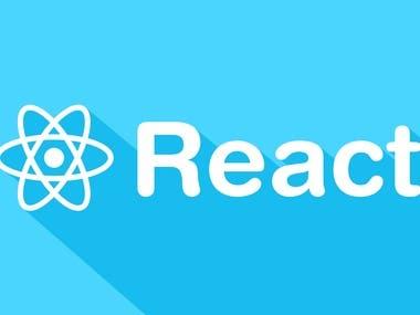 React.js Website