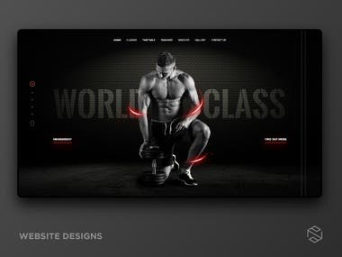 Website Design | Workout Classes