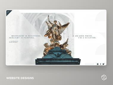 Sculpture website design