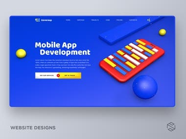 Website design for app development