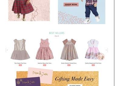 Shopify Website Development for Kids Wear