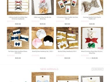 Shopify Website for Baby Wear