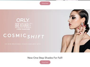 Custom Designed Shopify Website for beauty Industry