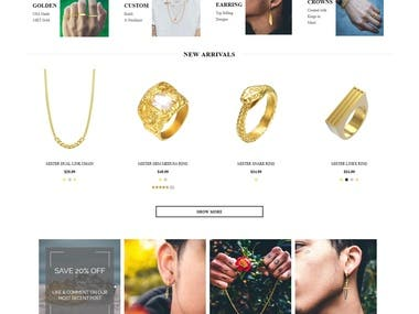 Customized Template based Jewelry Store on Shopify
