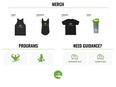 Shopify Website Development for Health Supplements