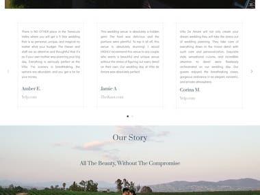 Wedding Customization website on WordPress with a Portal