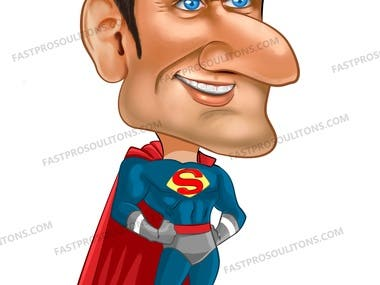 Superhero Caricature