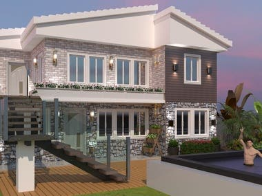 Recent work exterior modelling and rendring