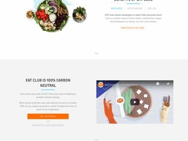 eatclub.com - Wordpress | AWS | Prototype | Design