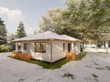 The concept design of a small house in Banjaluka