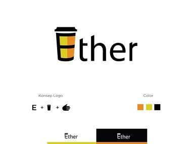 Logo Ether Coffee Shop