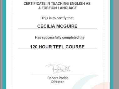 Teaching English as a Foreign Language (TEFL Advanced)