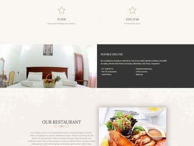 Custom Made Hotel Website With Control Panel.
