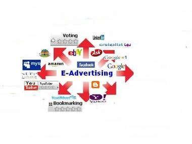 Advertising in online.