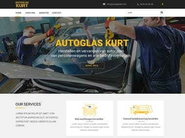 Car glass repair website