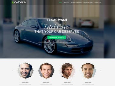 Car wash website development