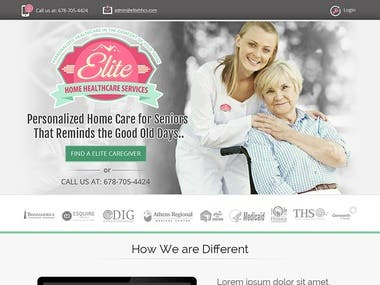 Home care for seniors website