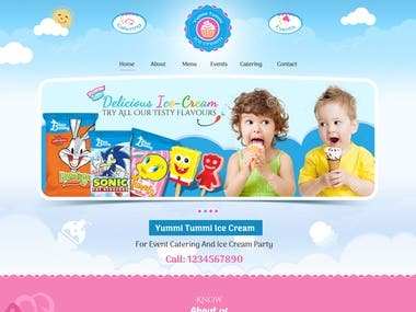 Ice cream website development