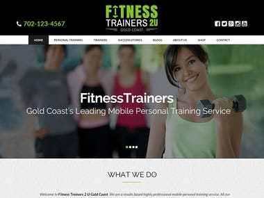 Fitness trainers e-commerce website