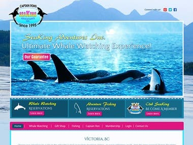 Whale watching tour booking website