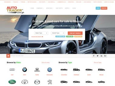 Auto classified website development
