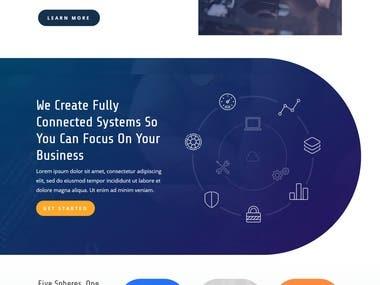 IT services website design