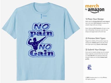 t-shirt design for merch by amazon.