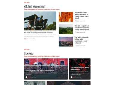 Wordpress with Neori theme