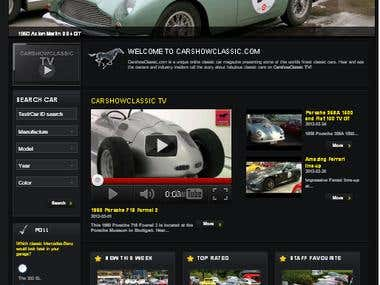 Online Classic Car Magazine Website using PHP