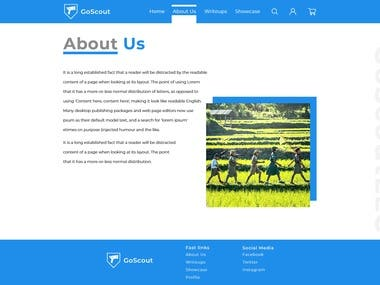 GoScoutLLC Website Design and Development