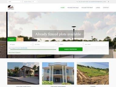 Real Estate web site on wordpress
