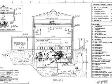 Power house Layout Of Hydro Power Plant