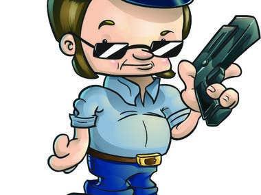 """Cop"" Character Illustration"