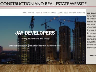 Construction and Real Estate website development