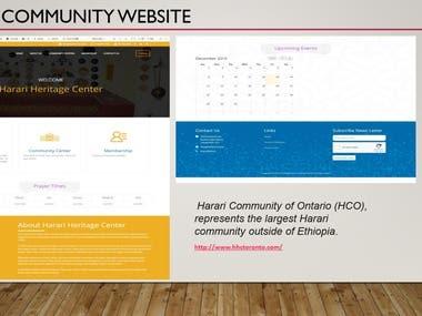 Community page Website Development