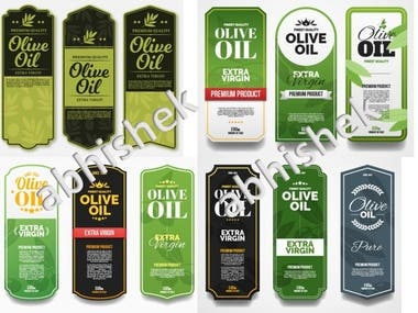 Raw Designs for Oil Labels by Abhishek