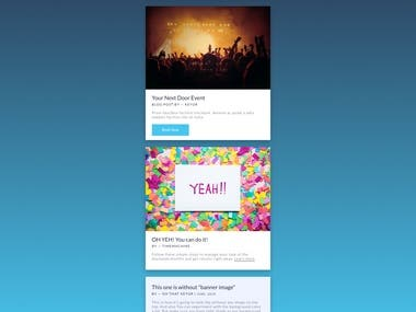 Newsletter email template #2