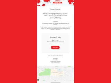 Email template for special event #3