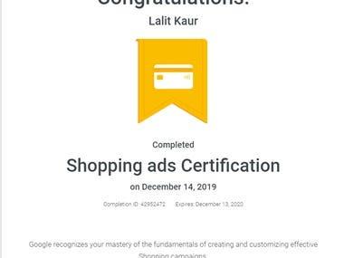 Google Ads Shopping Certification