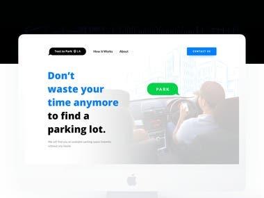 Text 2 Park - Landing Page Design