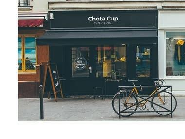 Chota Cup - Cafe de chai Branding