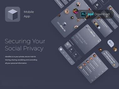 dataBloc.io - Blockchain Mobile App (.psd)