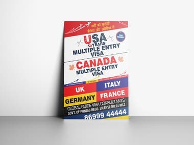 Immigration Advertisement design