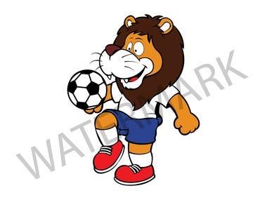 Lion mascot for football Design
