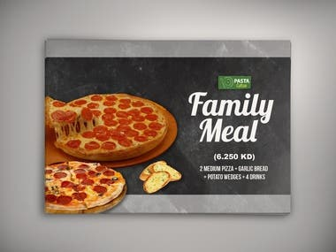 Pizza promotional advertisement