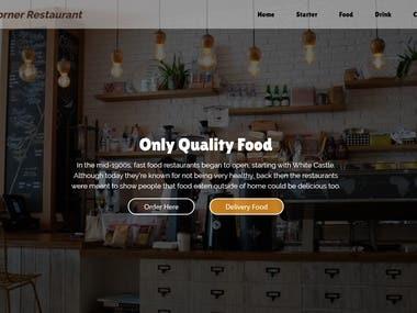 Restaurant (HTML5, Bootstrap, CSS3, JavaScript)