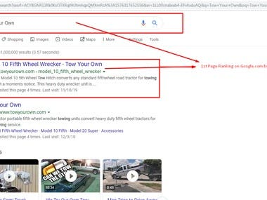1st Page Ranking On Google .com By Pure White Hat SEO