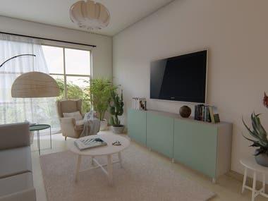 The interior design of apartment #1