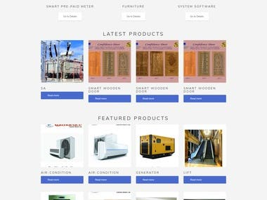 Online electronics full featured ecommerce corporate website