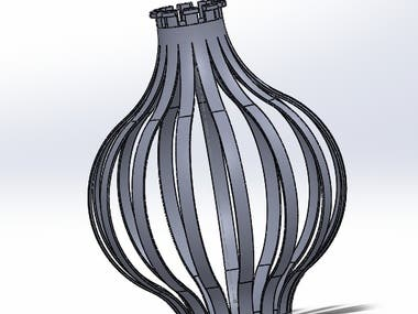 Solidworks Lamp Cover 3D